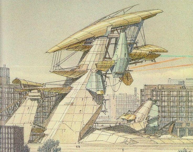 ARCHITECTURAL COLOR SKETCHES | 179 |LEBBEUS WOOD |SOURCE