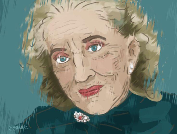 Sona Cervena illustration portrait by Nada Rysankova art