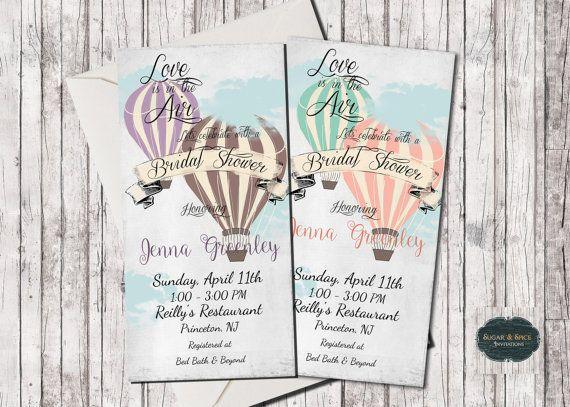Balloon Wedding Invitations