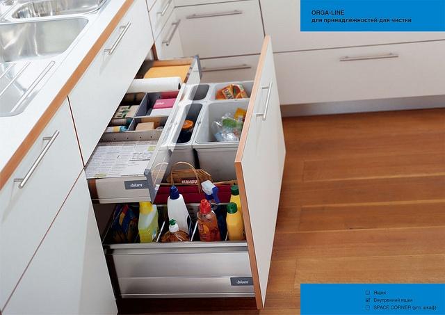 Blum Orgaline Sink Cabinet. With Bins.
