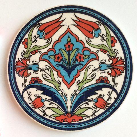 Ceramic Trivet Iznik design - Sophie's Bazaar - 1