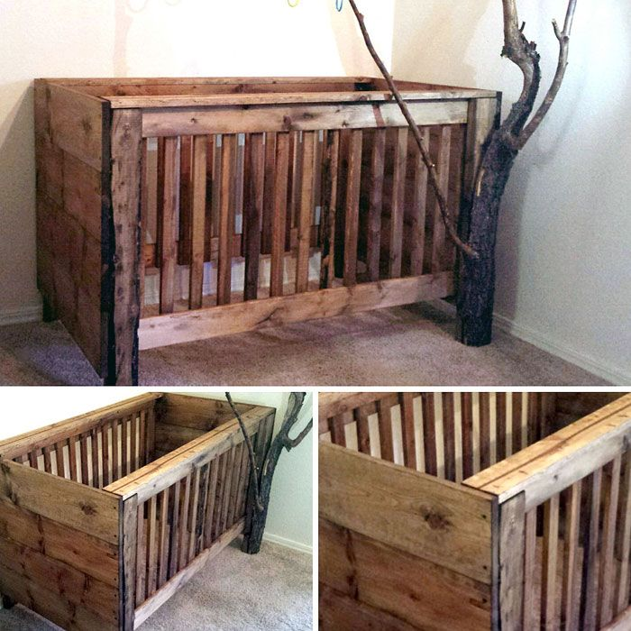 Rustic baby crib camo kids pinterest rustic baby for Diy rustic bunk beds