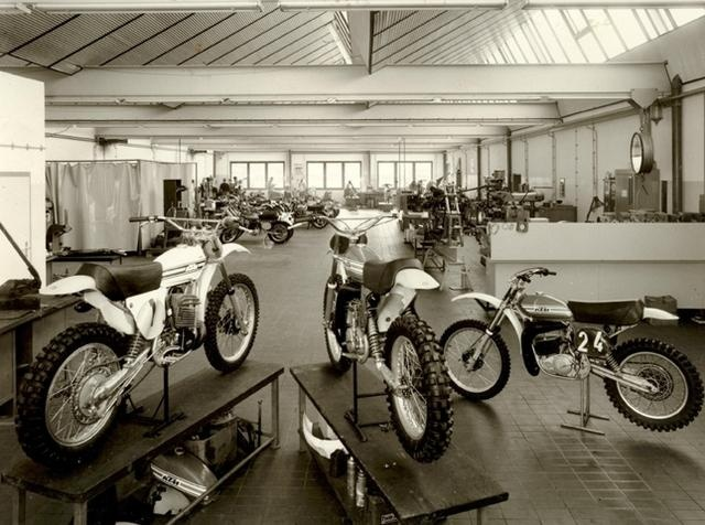 KTM factory - Racing Department 1976