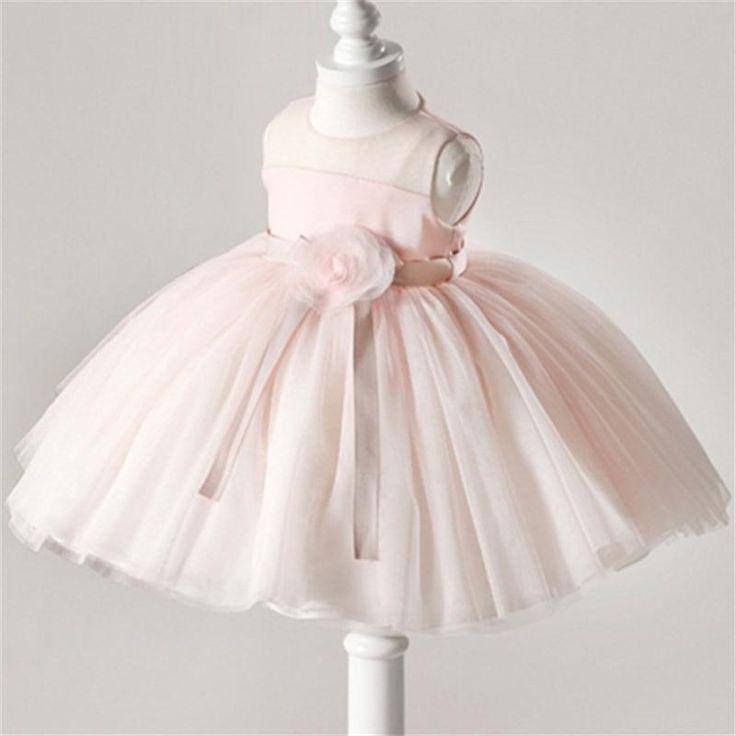mignon rose tutu robes pour b b s filles l gant enfants b b infantile bapt me premi re. Black Bedroom Furniture Sets. Home Design Ideas