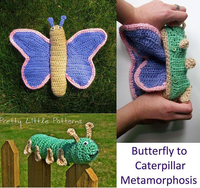 Caterpillar to Butterfly Metamorphosis (Topsy Turvy Reversible Toy) pattern by Stephanie Renee