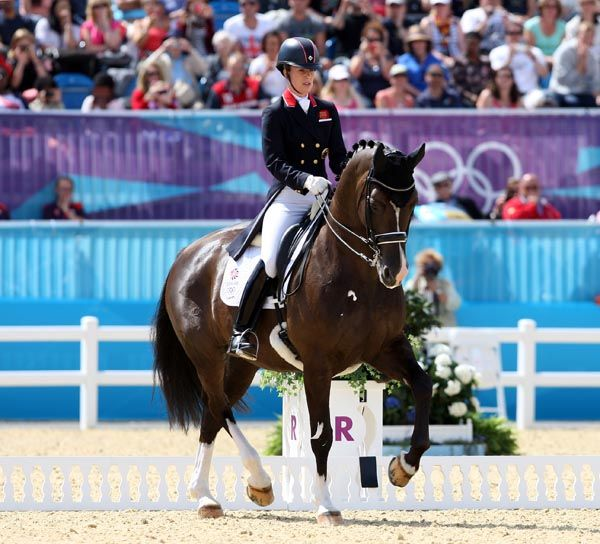 Great Britain's Dressage rider Charlotte Dujardin has smashed the previous Olympic record with her score of 83.66% with Valegro London 2012- WOW!