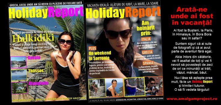 Arată-ne unde ai fost în vacanță!  Holiday Report