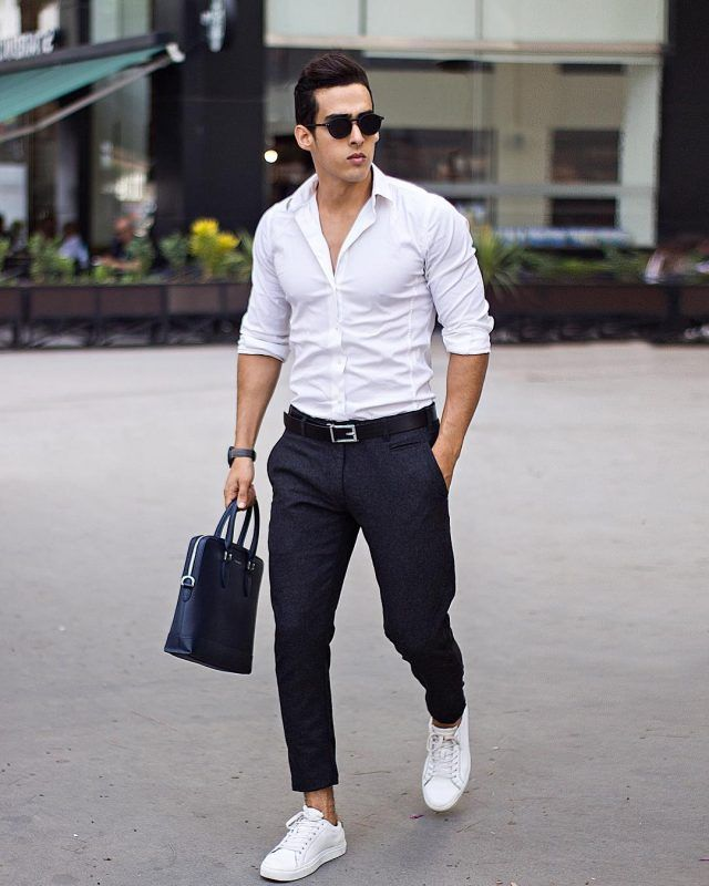 White shirt men, Mens casual outfits