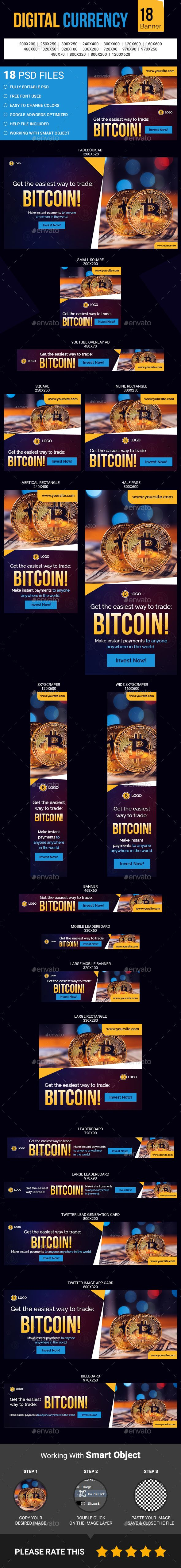 Digital Currency Banner - Banners & Ads Web Elements