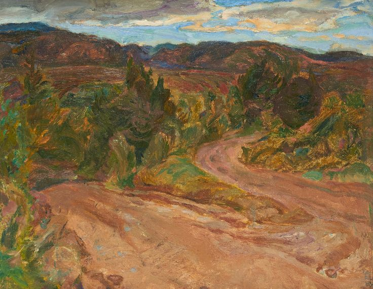 Frederick Varley - Mabou Cape Breton 12 x 15 Oil on canvas board