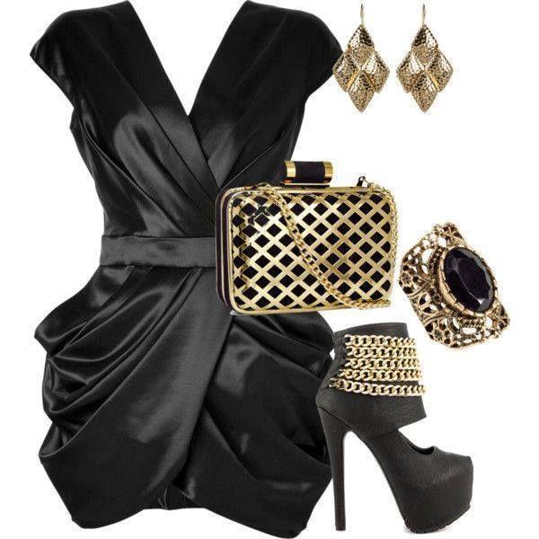 v yakalı mini siyah abiye elbise