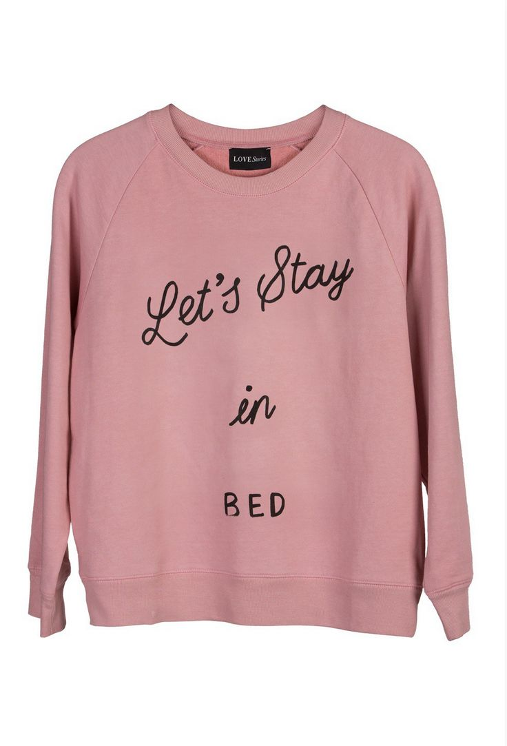 "Lovestories ""Let's stay in bed"" sweat graphic by Milou Neelen"
