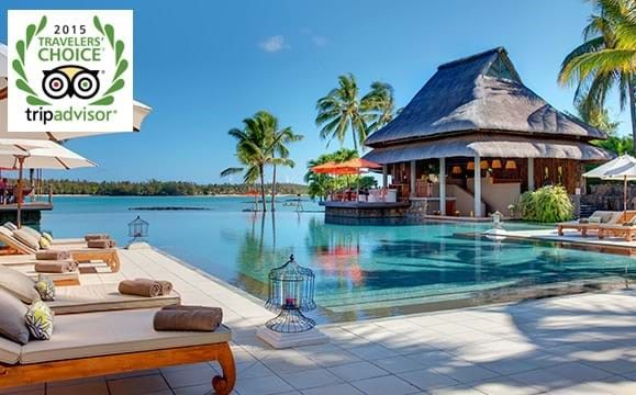 "Constance Le Prince Maurice makes the list of the Top 25 Hotels in the World and is named Best Hotel in Africa in the ""Trip Advisor's Traveler's Choice Awards 2015"""