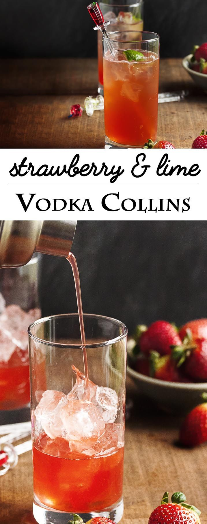 Strawberry and lime vodka collins recipe vodka collins for Drinks with simple syrup and vodka