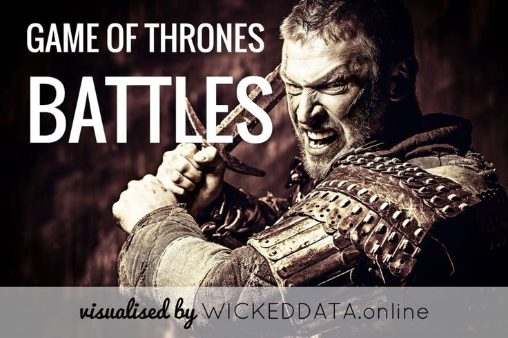Battles on Game of Thrones #gameofthrones #dataviz #datavisualization