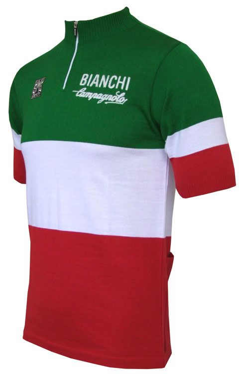 Santini have produced this exclusive, limited edition wool jersey to celebrate the 2011 Felice Gimondi Gran Fondo.
