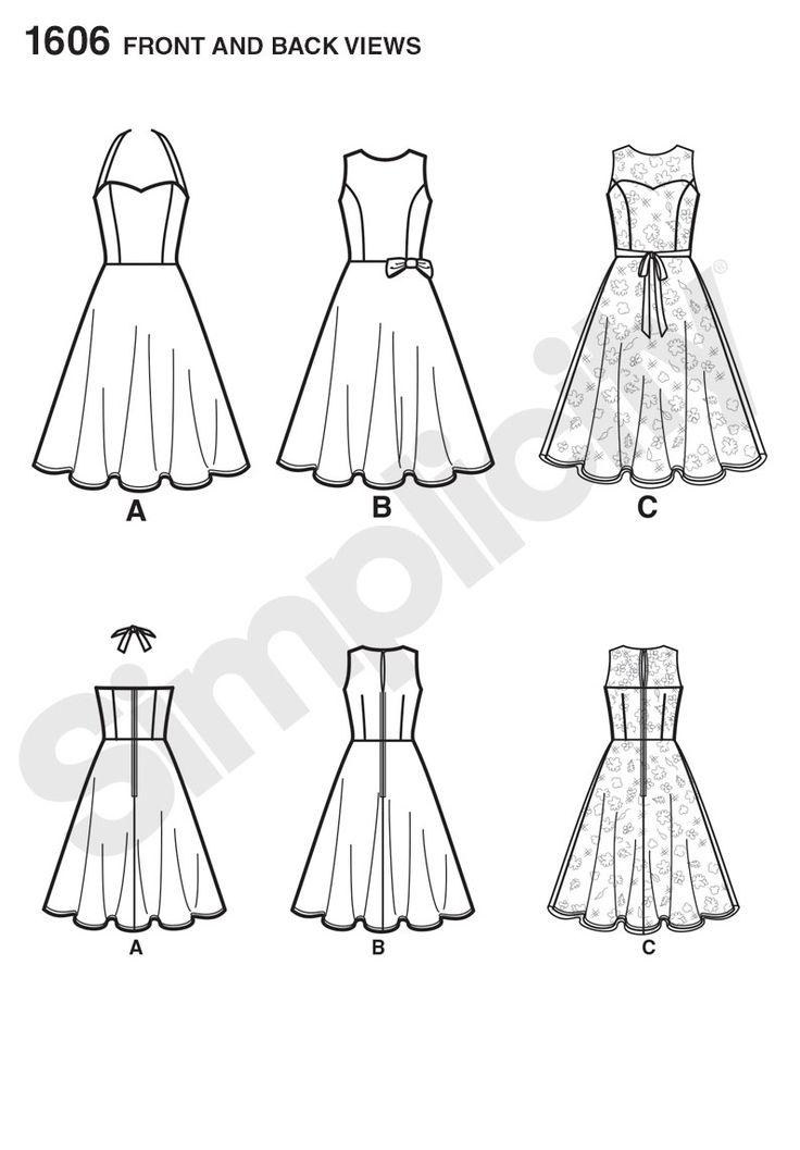 Simplicity Creative Group - 1606 Misses' & Miss Petite Amazing Fit Dress