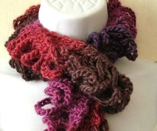 Crochet Patterns To Sell : Shredded Scarf Crocheted Pattern PDF EASY - permission to sell what ...