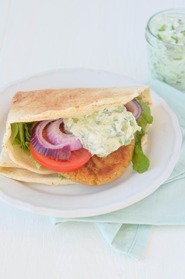 Falafelburger - Uit Pauline's Keuken