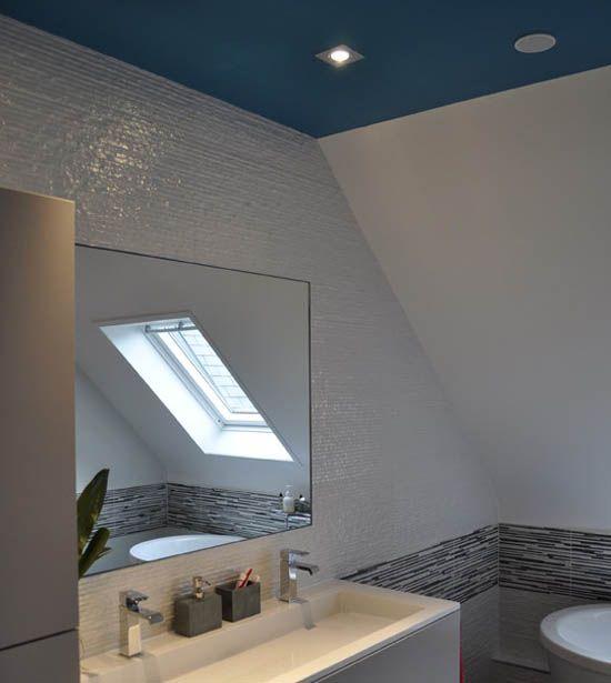 12 best Salle de bains images on Pinterest Bathroom, Bathrooms and - plafond pvc pour salle de bain