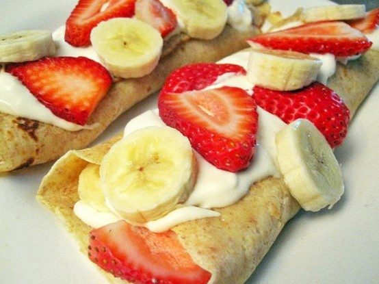 Strawberry Banana Crepes | YuMMy DeSSerts | Pinterest