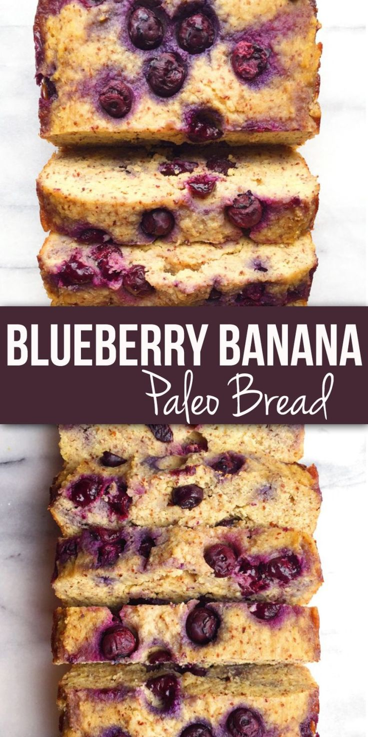 Blueberry Banana Bread (gluten, dairy & refined-sugar free