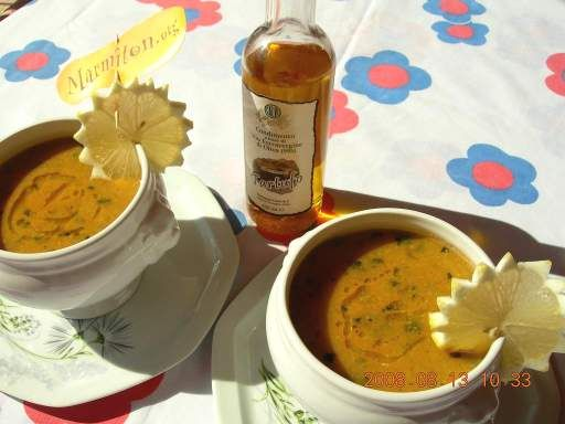 Soupe froide courgette et tomate : Recette de Soupe froide courgette et tomate - Marmiton