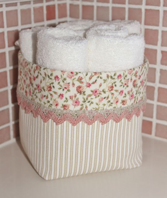 Fabric basket idea