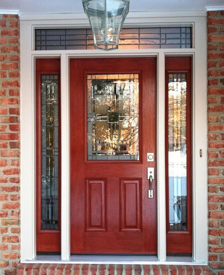 distressed red front door - Google Search