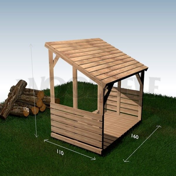 39 best images about abri bûches on Pinterest - construire un cabanon de jardin en bois