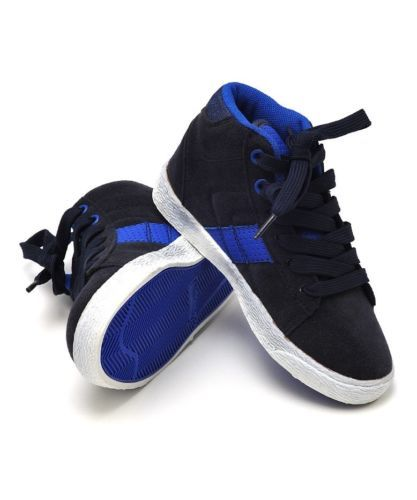 Boys-High-Top-Trainers-Blue-UK-Child-Sizes-7-8-9-10-11-12