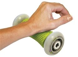 NEW Foot & Hand Massage Roller—Roll out relief for your sore feet and hands. Sooth the pain associated with Plantar Fasciitis, relieve tired feet and massage-away stress. The muscles in your hands, wrists and forearms can also benefit from this rolling recovery tool. A great way to manage your muscle pain, for an active GoFit life.