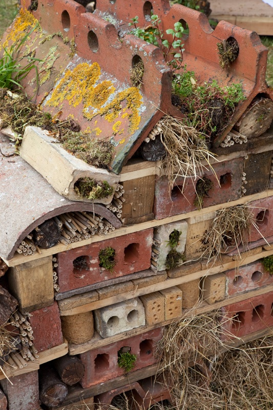 """Insectenhotel -- a little """"junky"""" looking for me, but great idea and use of materials instead of tossing them."""
