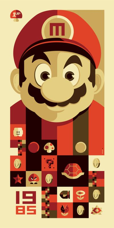Super Mario 1985 Cartel