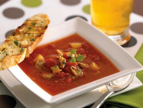 Пикантный суп из моллюсков