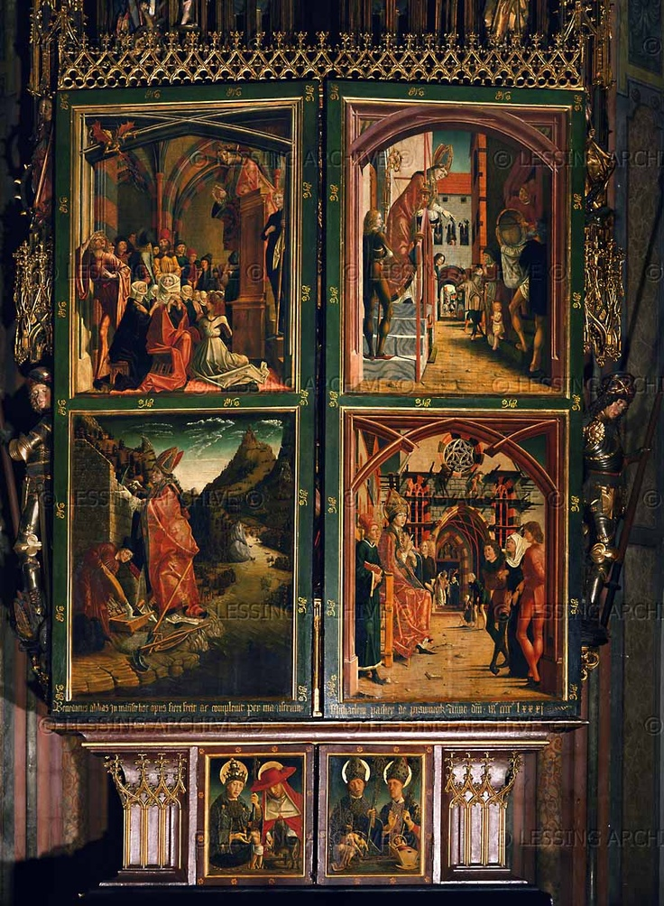 Pacher,Michael. Saint Wolfgang Altar. Paintings on the closed altar