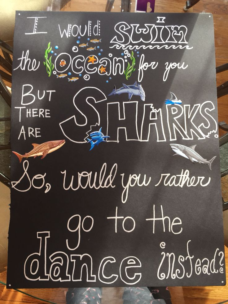 Asking my swimmer boyfriend to the dance