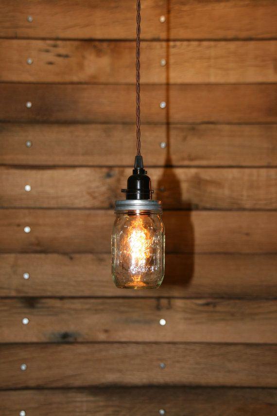 Hey, I found this really awesome Etsy listing at https://www.etsy.com/listing/116901047/ball-jar-pendant-light-mason-jar-light