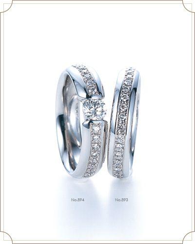 Amoureux アモルー【恋人】 二人の間を結ぶ永遠の絆。結婚してもいつまでも恋人同士のままでいてください。