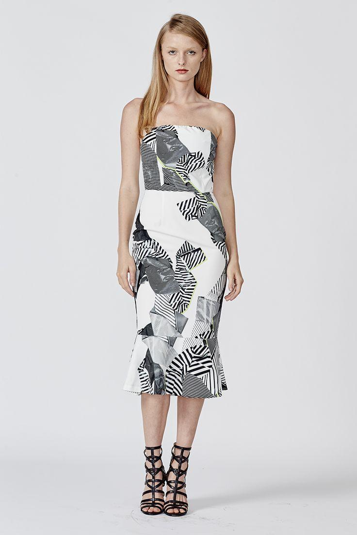 WALK THE EDGE STRAPLESS DRESS