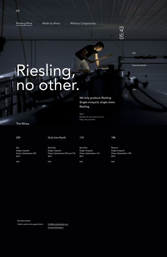 RIESLING Web design inspiration | #webdesign #it #web #design #coffee #layout #userinterface #website #webdesign www.facebook.com/BlickeDeeler