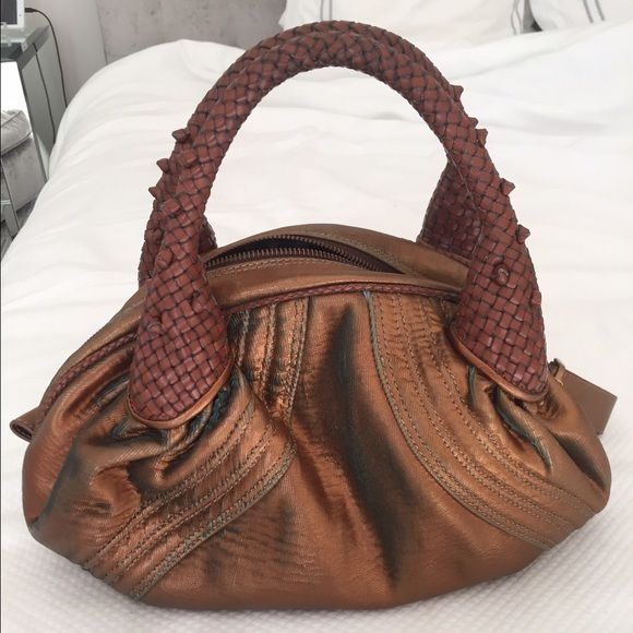 Vintage Fendi Spy Bag--STUNNING!!! Vintage Fendi Bag. Braided leather handles, gorgeous cooper coloring with hints of turquoise. In great condition! This is one special bag! FENDI Bags