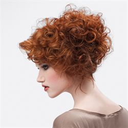 We have the how-to for this curly crop and red color thanks to Pivot Point International.