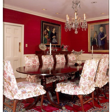 Find This Pin And More On Formal Dining. Red Traditional Dining Room ...
