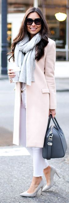 Nude City Chic Knee Length Coat by With Love From Kat