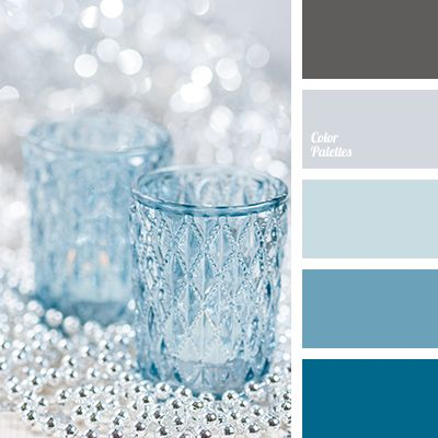 This palette consists of rich azure, restrained steel, pale shades of blue and cornflower blue. Dark slate colour is used as a contrasting addition. Such g.