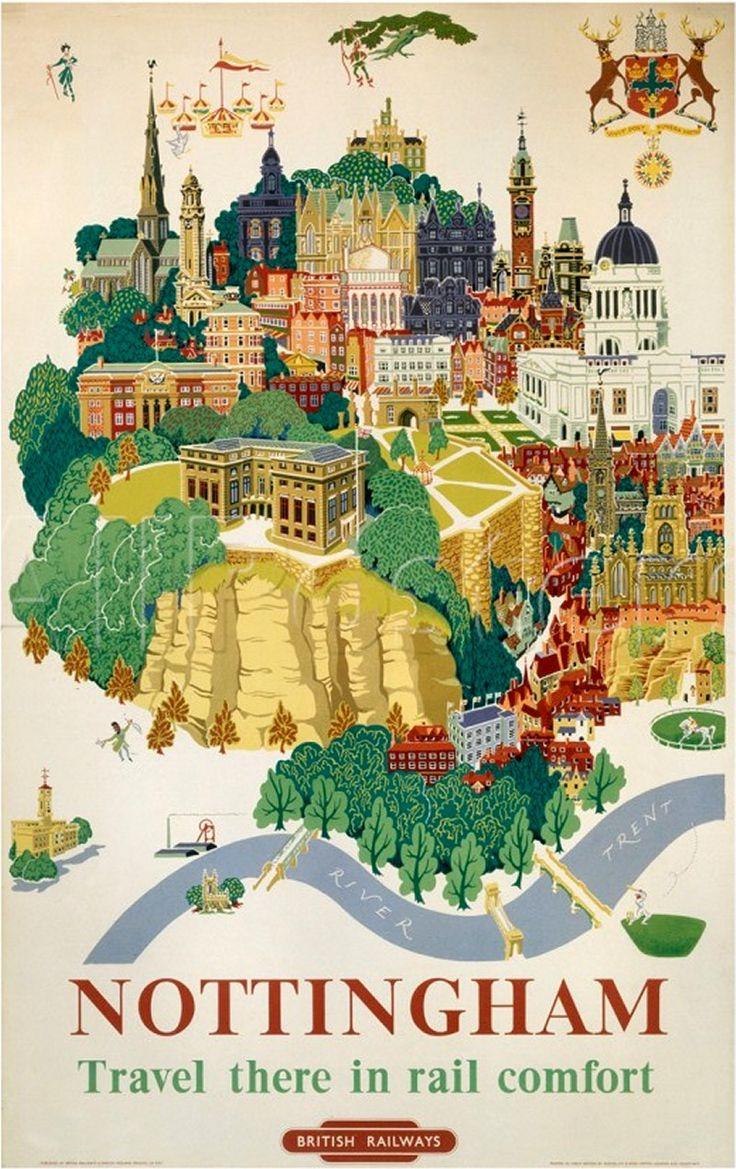 Nottingham, British Railways poster, c 1953.