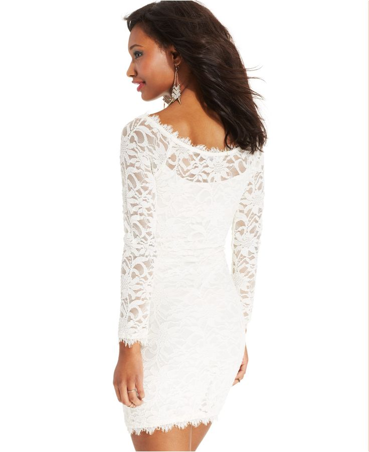 Jump Juniors' Lace Sheath Dress - Rehearsal Dinner - Women - Macy's