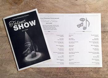Editable talent show program
