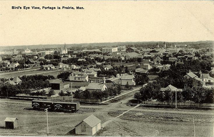 Postcard 816: [Canadian Railway News Service], Bird's eye view, Portage La Prairie, Man. ([ca. 1920])